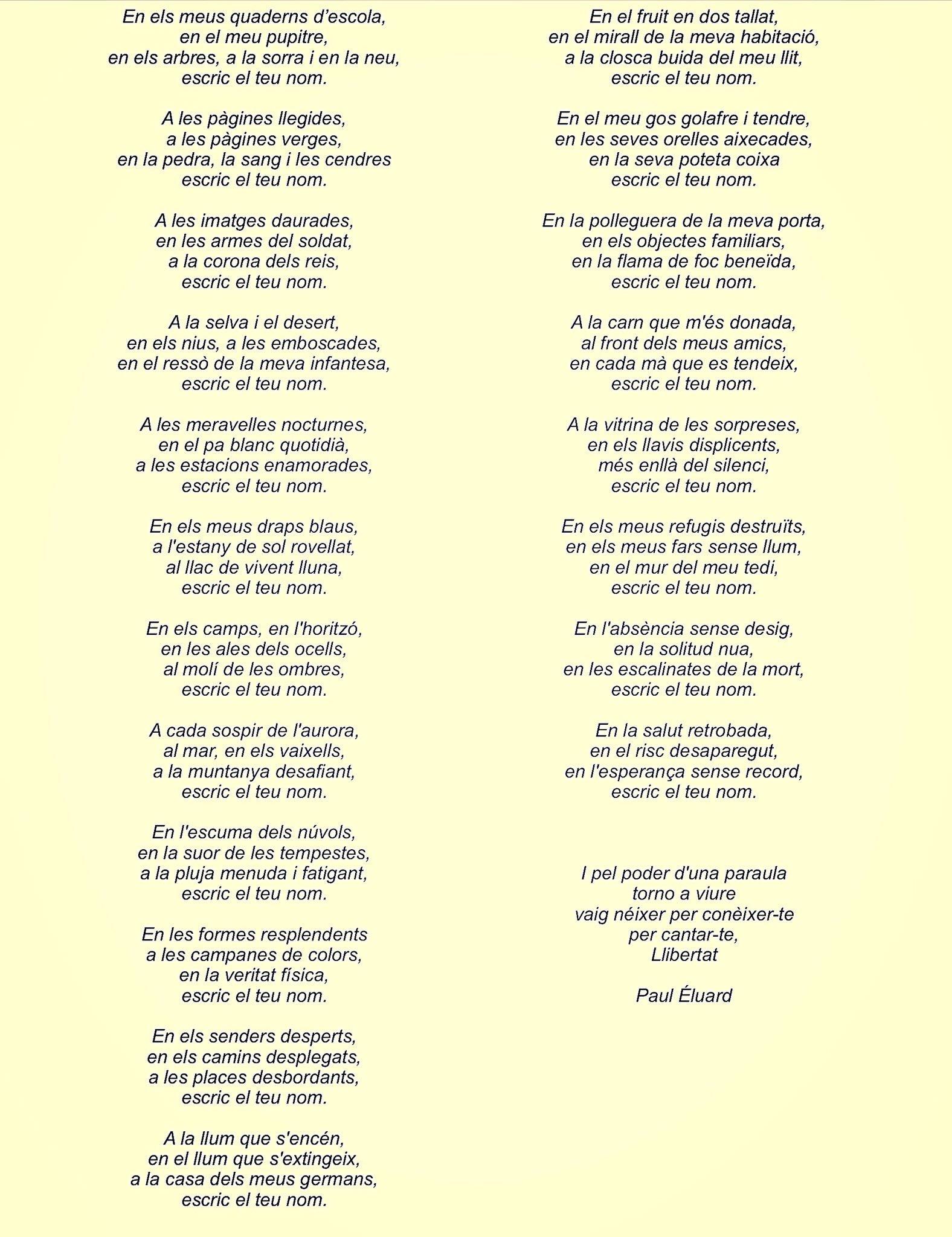 Poema de l'autor Paul Éluard