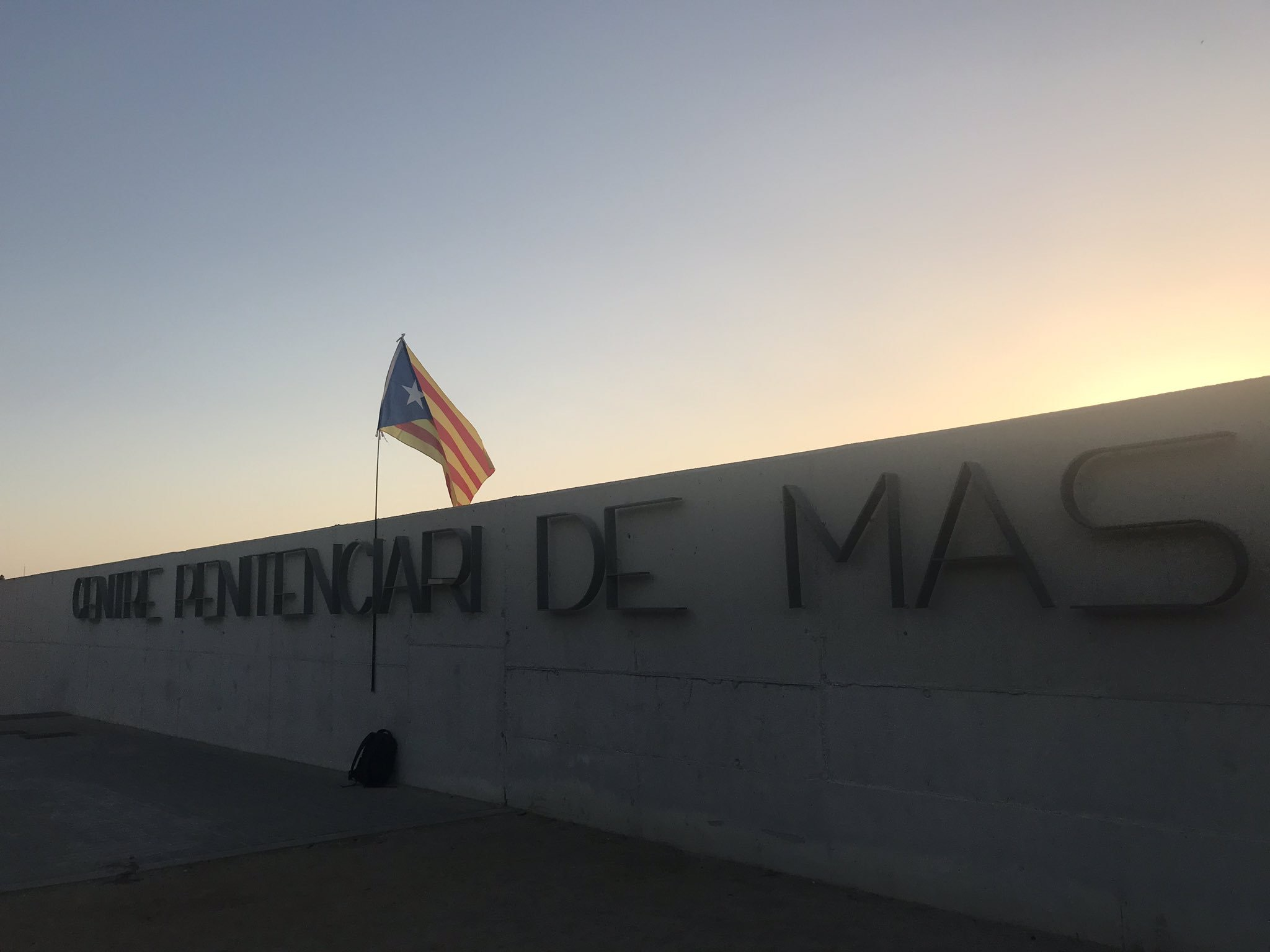 Estelada al centre penitenciari de Mas